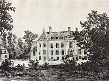 Ménil Château de Magnanne Mayenne Château-Gontier 1872 A. Tancrède