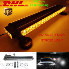 "26""54LED 162W Emergency Hazard Warning Double Side Strobe Light Bar Amber/Yellow"