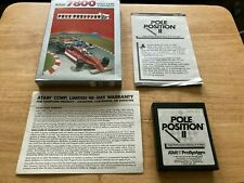 Pole Position II 2 Atari 7800 Complete Boxed Game & Manual CX7808