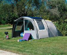 dwt Campingzelt Leader grau Tunnelzelt Camping Outdoor Familienzelt 4 Personen