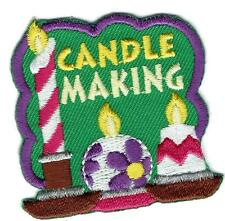 Girl Boy Cub CANDLE MAKING dipping Fun Patches Crests Badges SCOUT GUIDE candles