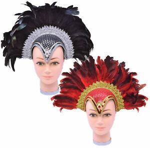 Feather Jewel Helmet & Plume - Costume Accessory Fancy Dress Carnival Headdress