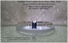 Sapphire Not Enhanced Solitaire with Accents Fine Gemstone Rings
