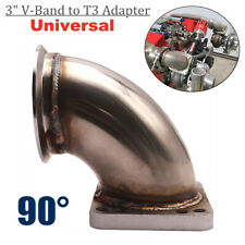 "3"" Vband 90 Degree Elbow Adapter Flange Kit to T3 Turbo 304 Stainless Steel Cast"