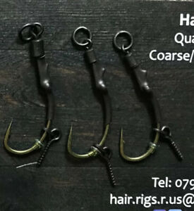 6X pre made Korda n-trap 20lb Ronnie Rigs/spinner Rigs Hook size 8 Barbless