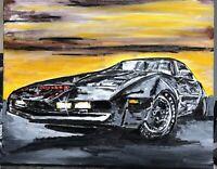 """Knight Rider"", #michaelscottwoodcock  Art Original Oil Painting Canvas"