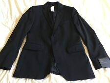 Banana Republic Tailored Fit Italian Wool Suit Jacket w/ Double Vent, Black, 38S