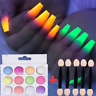 12 Colors Glow In Dark Glitter Nail Phosphorescent Powder Luminous FLUORESCENT