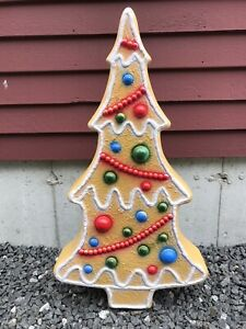 Blow Mold Tan Gingerbread Tree Christmas Colors And Icing Union Don Featherstone