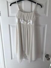 Girls White Wedding Party Dress, Size 10-12 Yrs
