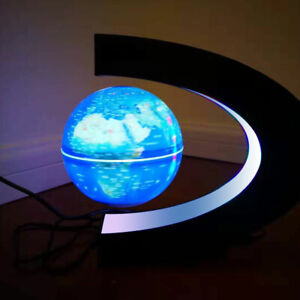 Magnetic Levitation Floating Globe Rotating Night Light Lamp Desk Decoration