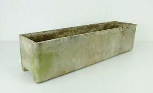 no. 1 of 3: rectangular willy guhl vintage mid century fiber cement PLANTER