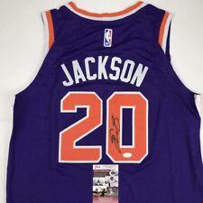 Autographed/Signed JOSH JACKSON Phoenix Purple Basketball Jersey JSA COA Auto