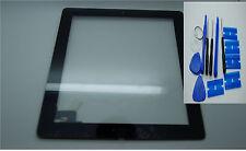 Brandneu iPad 2 Digitizer, Touch-Screen, Frontglas Schwarz, 3M Klebstoffe