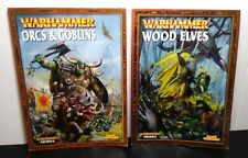 Warhammer 2 game guides Wood Elves Orcs and Goblins Armies Supplement books
