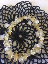 Citrine Crystal Gemstone Stretch Bracelet Handmade - Success, Joy, Wealth stone