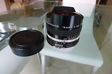 Nikon Nikkor 16mm f/2.8 AiS Lens, Perfect for Digital. Used Condition