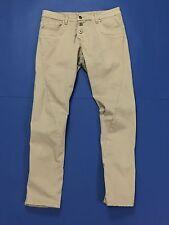 Vicolo pantalone donna usato w28 tg 42 chino skinny slim dritti beige T1457