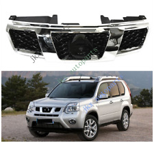 Chrome Front Bumper Middle Grille Grill Vent Fit For Nissan Rogue XTrail 2012-13