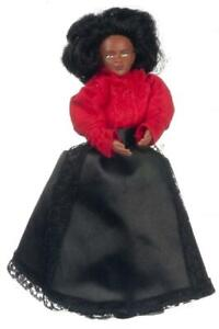 Dolls House Victorian Black Mother Mum Lady Miniature Doll 1:12 People
