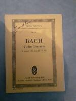 N°712 - Concerto Violino - Johan Sebastian Bach - Edizione Eulenburg