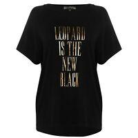 Biba Leopard T Shirt Ladies Crew Neck Tee Top Short Sleeve Cotton Regular Fit
