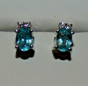 Madagascan Blue Apatite Earrings  - brand new