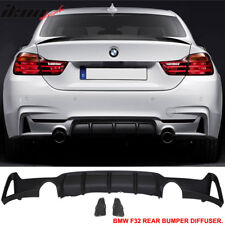 Fits 14-16 BMW F32 435i M Performance Style Rear Bumper Lip Diffuser Dual Outlet