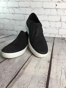 ECCO Danish Design Slip On Black Casual Shoes, Men's Size 10/EU 44, EUC
