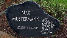 Schwarz Gedenkplatte Grabstein Gedenktafel Gedenkstein Urne Tiergrab Motiv Engel