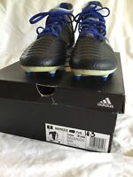 Brand New Womens Adidas Soccer Cleats 7.5 Nemeziz 18.3 FxG Black & Royal