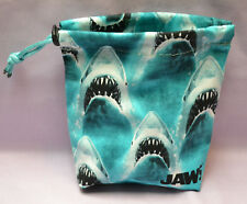 Jaws Cloth Drawstring Dice Bag for Pathfinder/D&D/X-Wing/RPG/40k