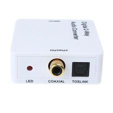 Dual 2-Way Digital Audio Converter Extender Digital Coaxial to Optische Toslink