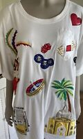 Viva Las Vegas! Victoria Woman Plus Size  Top Shirt Sequined  Gambling 3X NWT