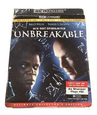 Unbreakable (4K Ultra Hd + Blu Ray + Digital Code) w/Slipcover Bruce Willis