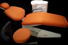 1 Set Dental Dentist Chair Cover Sleeves Protector Washable Orange Color