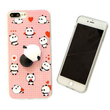 Custodia TPU flessibile PANDA 3D cover SQUISHY per Apple iPhone 7 Plus 5.5""