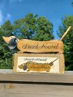 Snack Hound Wood Dachshund Wiener Dog  Tray Pretzel  Enesco Japan original box