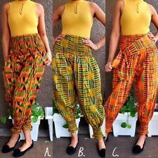 African Pants Kente Print Harem Style African Harem Pants Kente Print Kente Pant