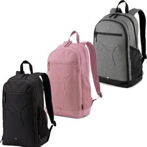 Puma Buzz Backpack Sports Bag Gym Fitness Training Travel Backpacks Black Grey