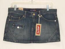 New LEVI'S Juniors Blue Indigo Mini Denim Skirt Size 7