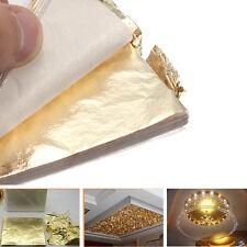 100X Gold Leaf/Leaves Sheets Foil Paper Gilding Art Craft 14cm Creative Tool