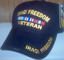 MENS CAP IRAQI FREEDOM VETERAN HAT RAPID DOMINANCE 3D