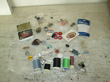 Misc Lot of Sewing Supplies, Thread, Buttons, Bobbins, Needles
