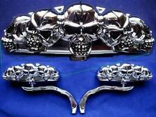 5 Skull Mirrors for Harley Davidson Motorcycles