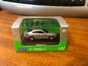 Welly NEX 1/87 Scale #73126SW Jaguar XF - Silver - Boxed