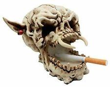 "Demon Pirate Skull Figurine 6.5""l Fanged Bone Vampire Marauder Skeleton Decor"