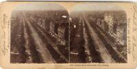 FRANCE Paris Avenue De La Grande Armée, Photo Stereo Vintage Citrate 1895