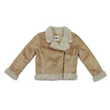 NWT Old Navy Toddler Girl MOTO Faux-Shearling Suede Sherpa Jacket Coat XS(5)