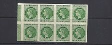 FRANCE 1944 CHATEAU de MALMAISON EXPOSITION labels GREEN block of 8 VF MNH